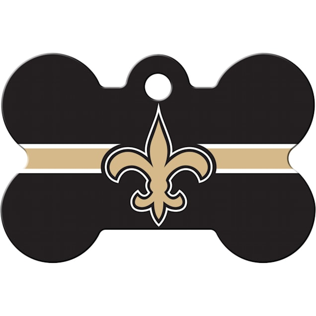 Quick-Tag New Orleans Saints NFL Bone Personalized Engraved Pet ID Tag - Carousel image #1