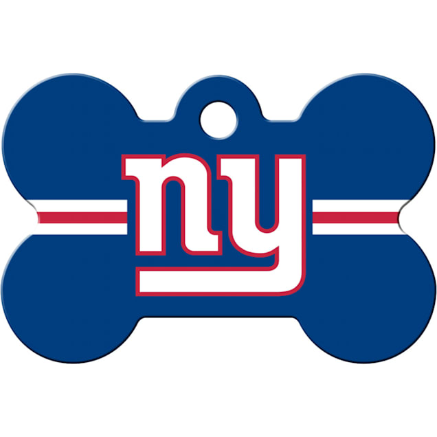 Quick-Tag New York Giants NFL Bone Personalized Engraved Pet ID Tag - Carousel image #1