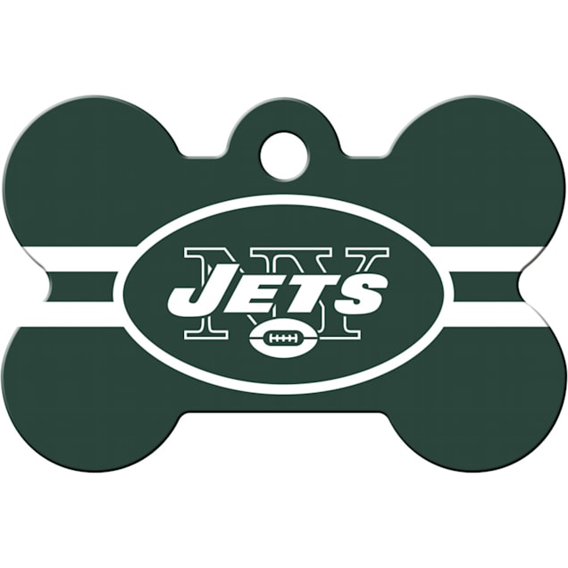 Quick-Tag New York Jets NFL Bone Personalized Engraved Pet ID Tag - Carousel image #1