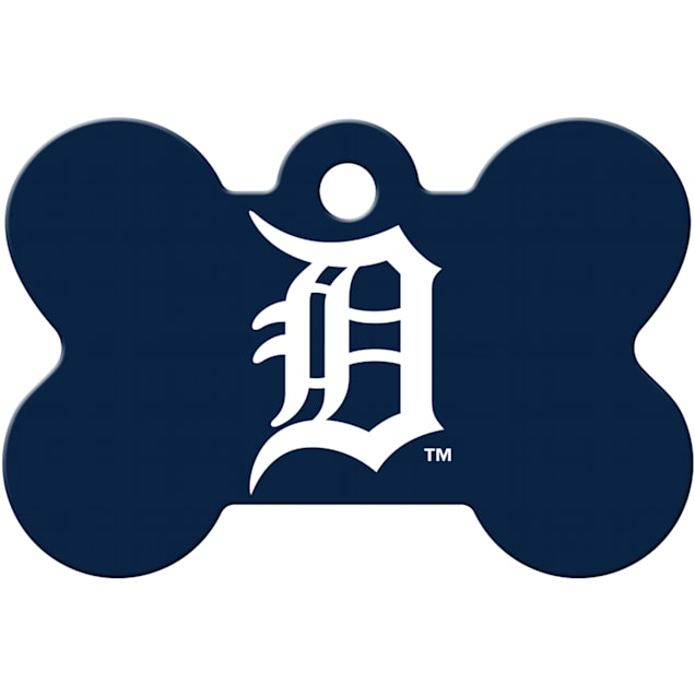Quick-Tag Detroit Tigers MLB Bone Personalized Engraved Pet ID Tag - Carousel image #1