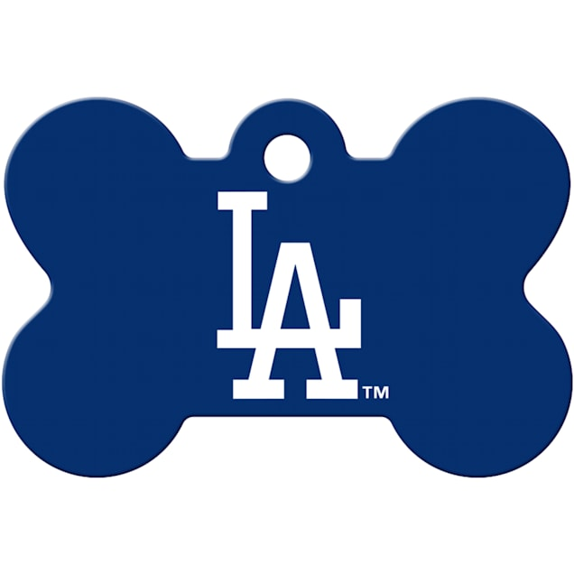 Quick-Tag Los Angeles Dodgers MLB Bone Personalized Engraved Pet ID Tag - Carousel image #1
