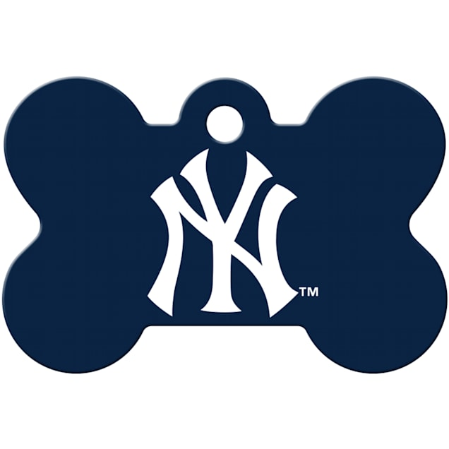 Quick-Tag New York Yankees MLB Bone Personalized Engraved Pet ID Tag - Carousel image #1