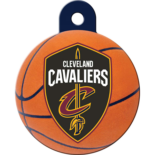 Quick-Tag Cleveland Cavaliers NBA Circle Personalized Engraved Pet ID Tag - Carousel image #1