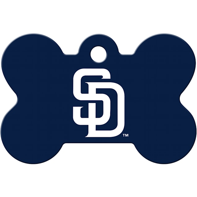 Quick-Tag San Diego Padres MLB Bone Personalized Engraved Pet ID Tag - Carousel image #1
