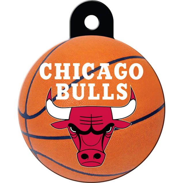Quick-Tag Chicago Bulls NBA Circle Personalized Engraved Pet ID Tag - Carousel image #1