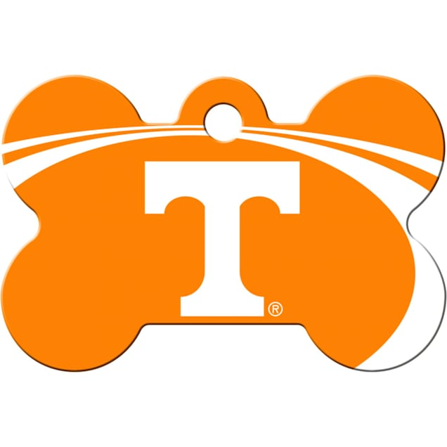 Quick-Tag Tennessee Volunteers NCAA Bone Personalized Engraved Pet ID Tag - Carousel image #1
