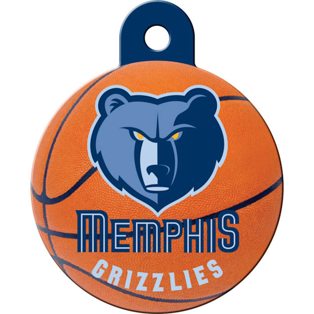 Quick-Tag Memphis Grizzlies NBA Circle Personalized Engraved Pet ID Tag - Carousel image #1
