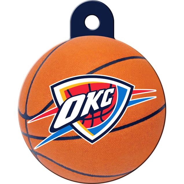 Quick-Tag Oklahoma City Thunder NBA Circle Personalized Engraved Pet ID Tag - Carousel image #1