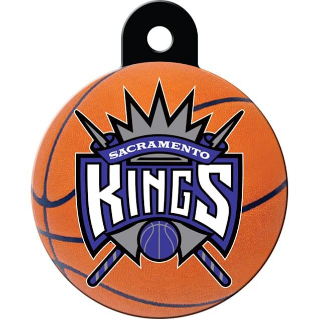 Quick-Tag Sacramento Kings NBA Circle Personalized Engraved Pet ID Tag - Carousel image #1