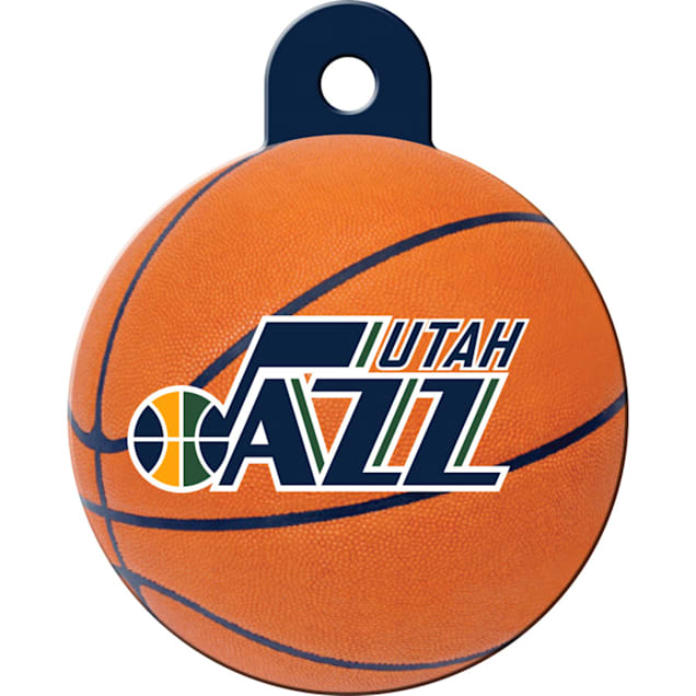 Quick-Tag Utah Jazz NBA Circle Personalized Engraved Pet ID Tag - Carousel image #1