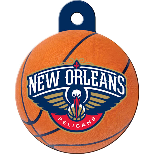 Quick-Tag New Orleans Pelicans NBA Circle Personalized Engraved Pet ID Tag - Carousel image #1