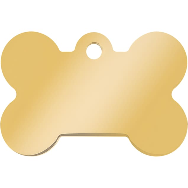 Quick-Tag Large Gold Bone Personalized Engraved Pet ID Tag - Carousel image #1