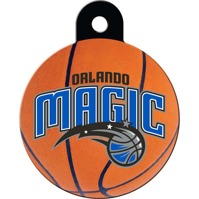 Quick-Tag Orlando Magic NBA Circle Personalized Engraved Pet ID Tag - Carousel image #1