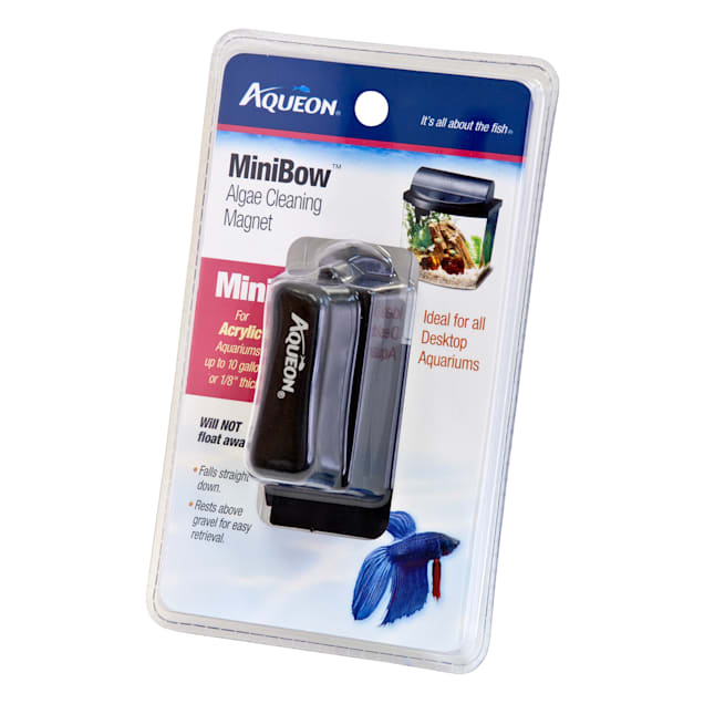 "Aqueon Mini Bow Algae Cleaning Aquarium Magnet, 2.5"" L X 4.5"" W X 7.5"" H, Small - Carousel image #1"