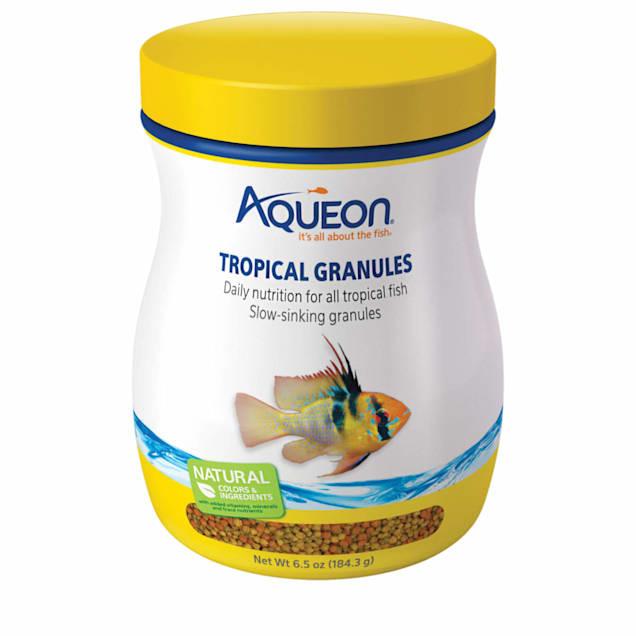 Aqueon Tropical Granules Tropical Fish Food, 6.5 oz. - Carousel image #1