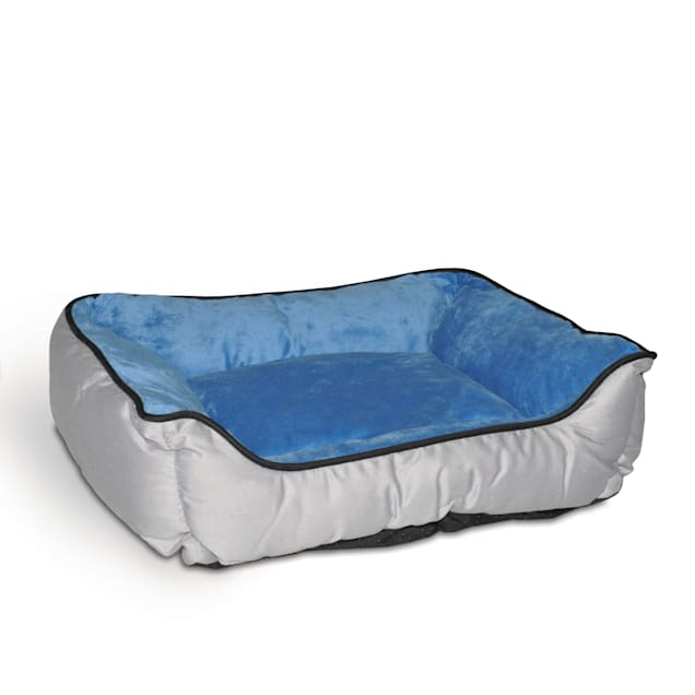 "K&H Gray & Blue Self-Warm Lounge Sleeper Self Warming Pet Bed, 20"" L x 16"" W - Carousel image #1"