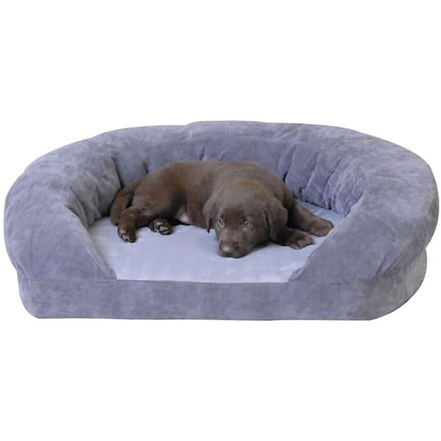 "K&H Orthopedic Bolster Sleeper Dog Bed in Gray, 30"" L x 25"" W - Carousel image #1"