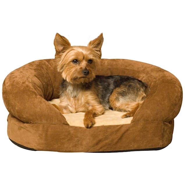 "K&H Orthopedic Bolster Sleeper Dog Bed in Mocha, 30"" L x 25"" W - Carousel image #1"