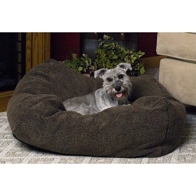 "K&H Cuddle Cube Dog Bed in Mocha, 32"" L x 32"" W - Carousel image #1"