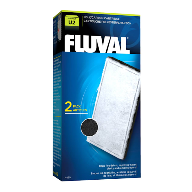 Fluval U2 Poly/Carbon Cartridge, Pack of 2 - Carousel image #1