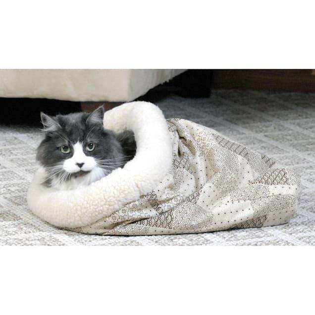 "K&H Tan Kitty Crinkle Sack Cat Hideaway, 18"" L X 15"" W - Carousel image #1"
