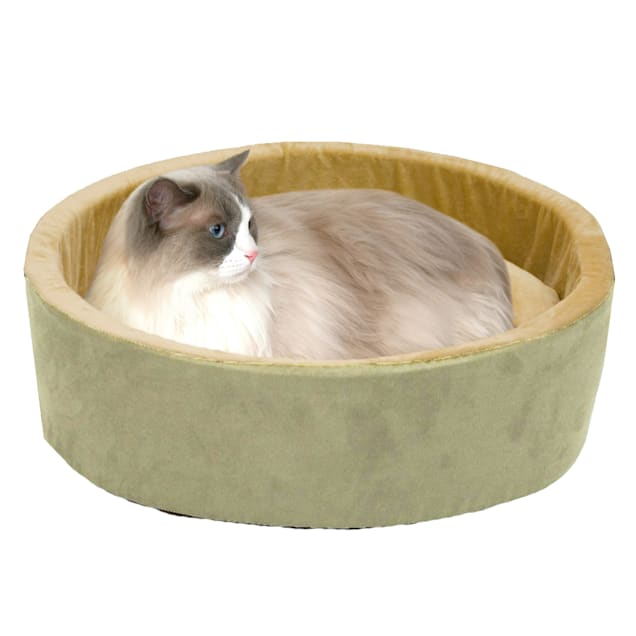 """K&H Thermo-Kitty Bed in Sage, 20"""" L x 20"""" W - Carousel image #1"""