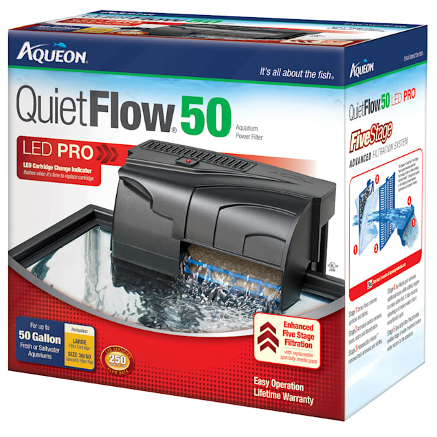 Aqueon QuietFlow LED PRO 50 Aquarium Power Filter - Carousel image #1