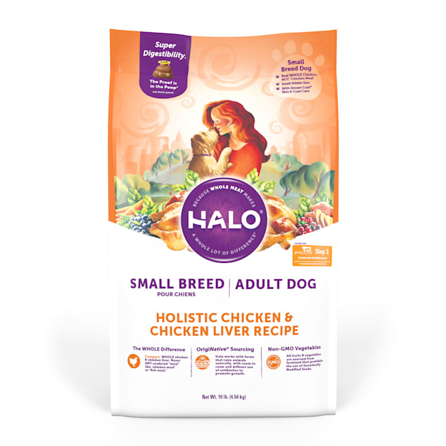 Halo Small Breed Holistic Chicken & Chicken Liver Dry Dog Food, 10 lbs. - Carousel image #1