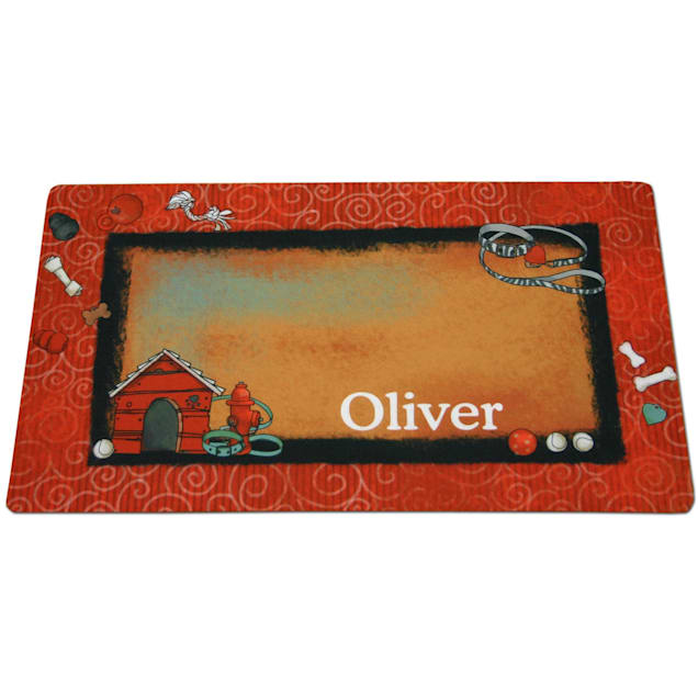 Drymate Bow Wow Red Personalized Pet Placemat - Carousel image #1