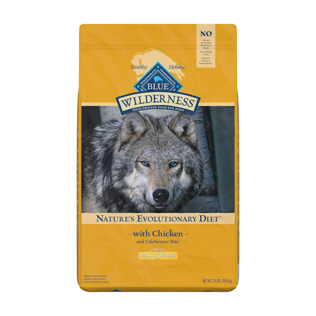 Blue Buffalo Blue Wilderness Adult Healthy Weight Chicken Recipe Dry Dog Food, 24 lbs. - Carousel image #1