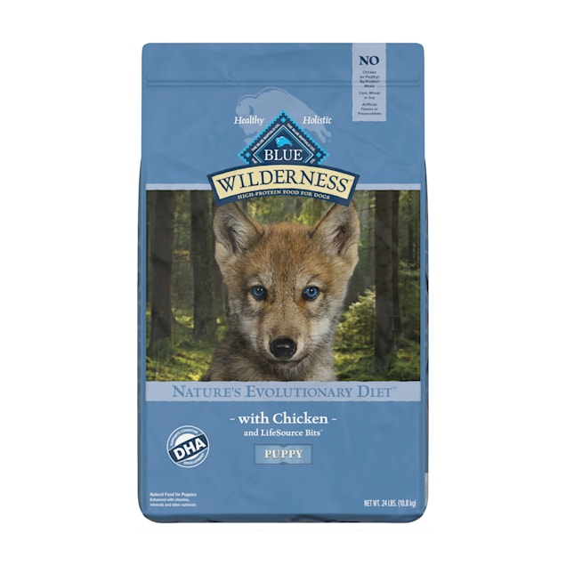 Blue Buffalo Wilderness Natural Puppy High Protein Grain Free Chicken Dry Dog Food, 24 lbs. - Carousel image #1
