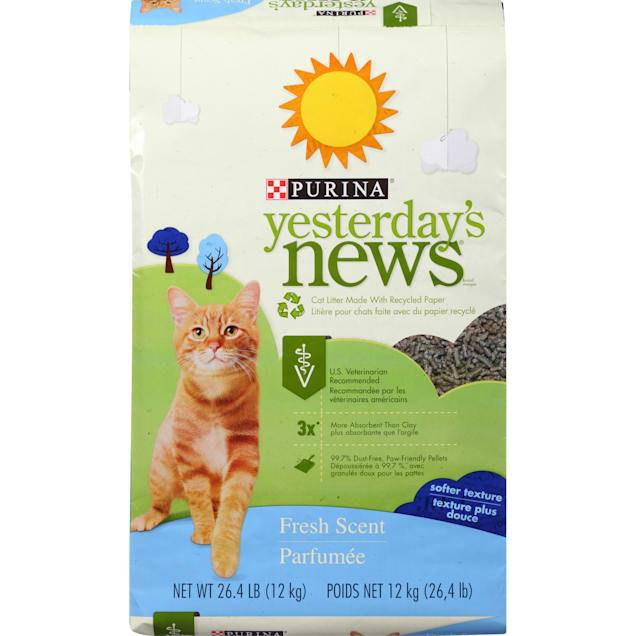 Purina Yesterday's News Paper Fresh Scent Low Tracking Cat Litter, 26.4 lbs. - Carousel image #1