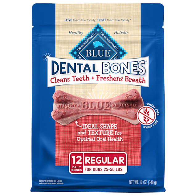 Blue Buffalo Natural Adult Regular Dental Chew Dog Treats, 12 oz. - Carousel image #1