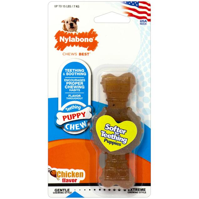 Nylabone Puppy Chew Chicken Flavored Dog Chew, Small - Carousel image #1