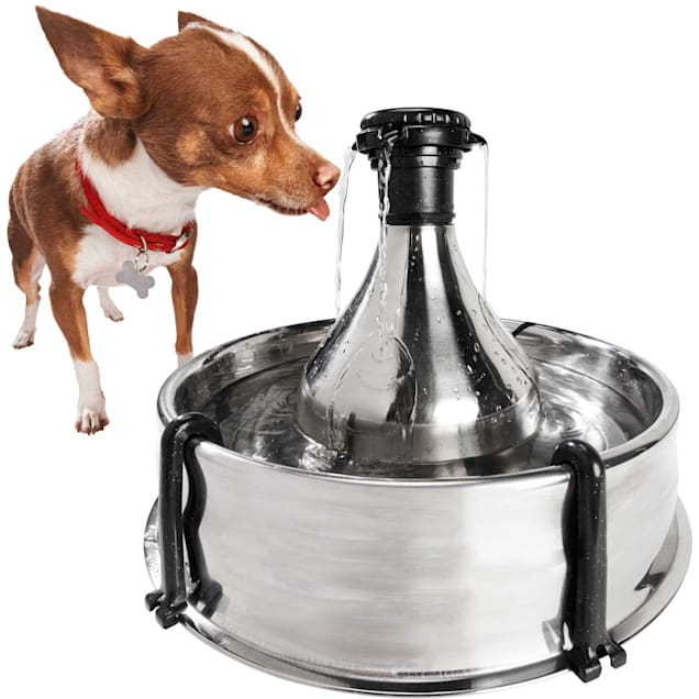 PetSafe Drinkwell 360 Stainless Steel Multi-Pet Dog and Cat Water Fountain, 128 oz. - Carousel image #1