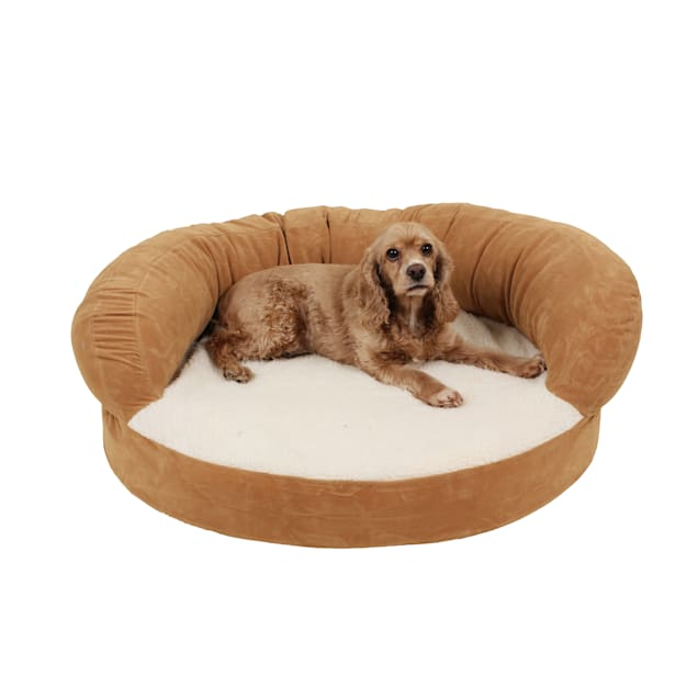 "Carolina Pet Company Caramel Colored Orthopedic Bolster Dog Bed, 35"" L x 11"" W - Carousel image #1"