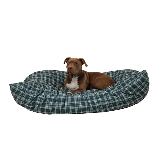 "Carolina Pet Company Green Plaid Indoor Outdoor Shebang Dog Bed, 54"" L x 44"" W - Carousel image #1"