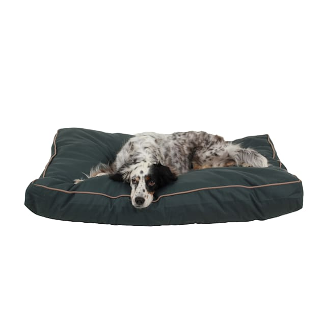 """Carolina Pet Company Indoor Outdoor Jamison Green Faux Gusset Dog Bed, 42"""" L x 30"""" W - Carousel image #1"""