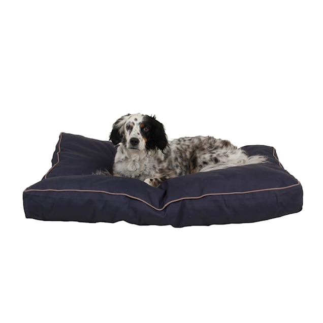 "Carolina Pet Company Indoor Outdoor Jamison Blue Faux Gusset Dog Bed, 42"" L x 30"" W - Carousel image #1"
