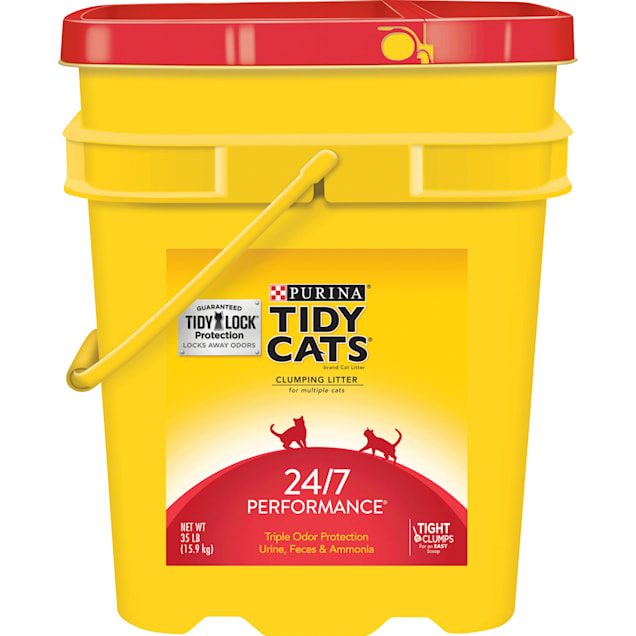Purina Tidy Cats Clumping 24/7 Performance Multi Cat Litter, 35 lbs. - Carousel image #1