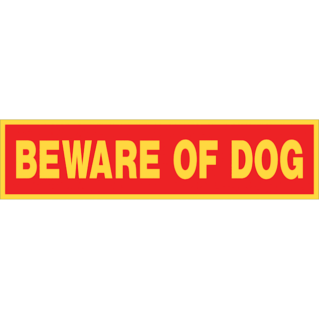 "Hillman Sign Center -- Beware of Dog Decal, 8"" L X 2"" H - Carousel image #1"