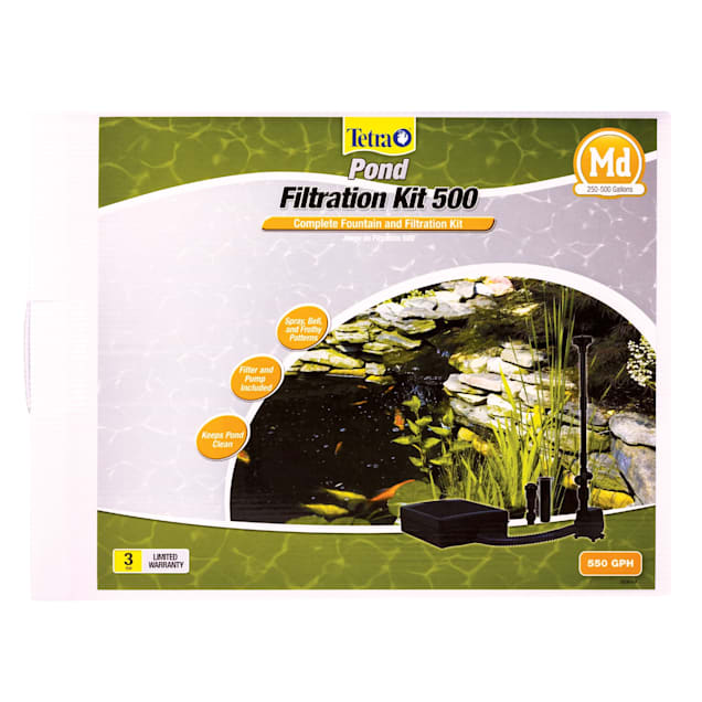 TetraPond Filtration Fountain Kit with Flat Box Filter - Carousel image #1
