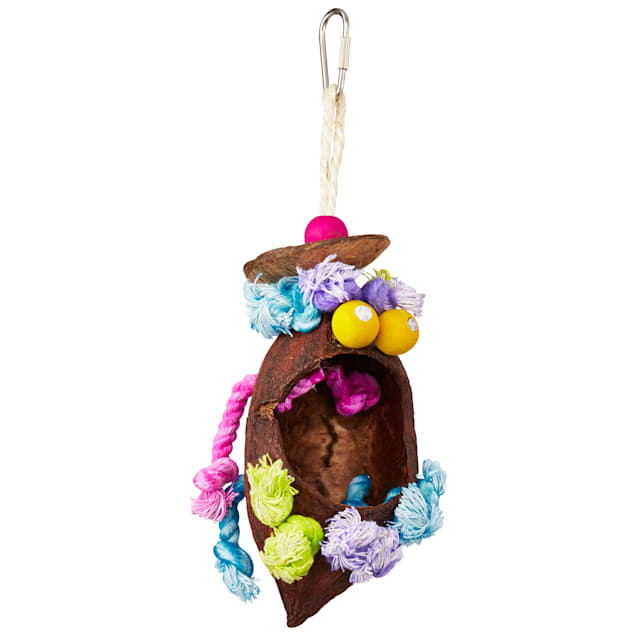 Prevue Pet Products Tropical Teasers Coconut Bird Toy, Small/Medium - Carousel image #1