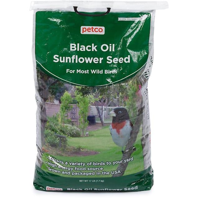 Petco Black Oil Sunflower Seed Wild Bird Food, 8 lb Bag - Carousel image #1