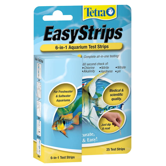 Tetra EasyStrips 6-in-1 Aquarium Test Strips, Pack of 25 - Carousel image #1