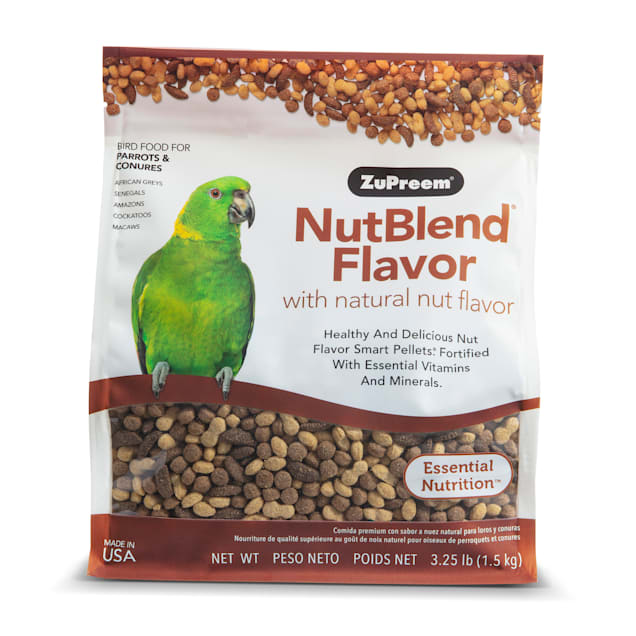 ZuPreem AvianMaintenance NutBlend Premium Bird Diet for Medium & Large Birds, 3.25 lbs. - Carousel image #1