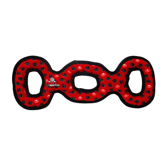 Tuffy's Red Paw Print Ultimate 3 Way Tug Dog Toy, X-Large - Carousel image #1
