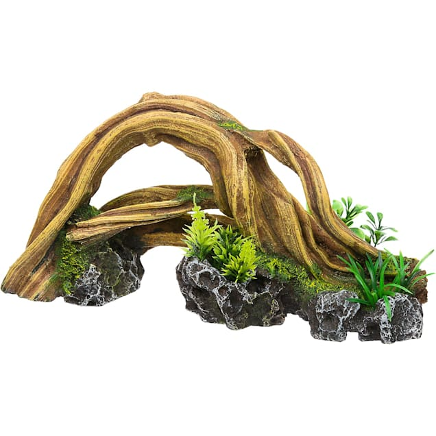 RockGarden Resin Wood Arch with Plants - Carousel image #1