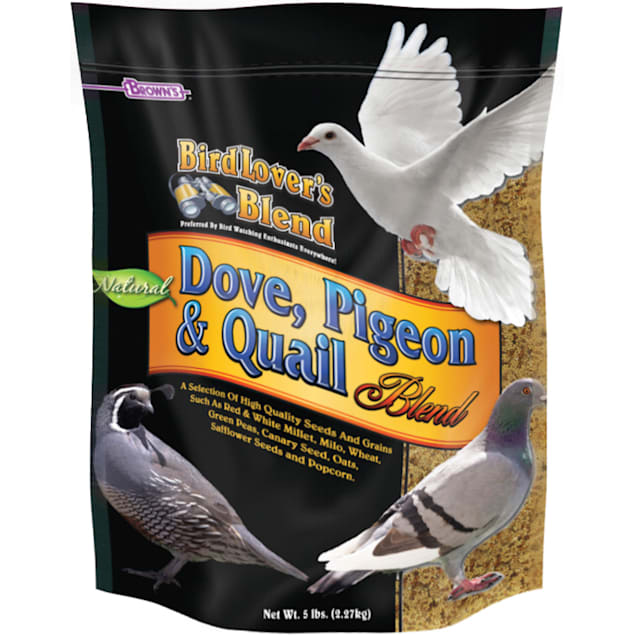 Brown's Dove, Pigeon and Quail Blend Bird Food, 5 lbs - Carousel image #1
