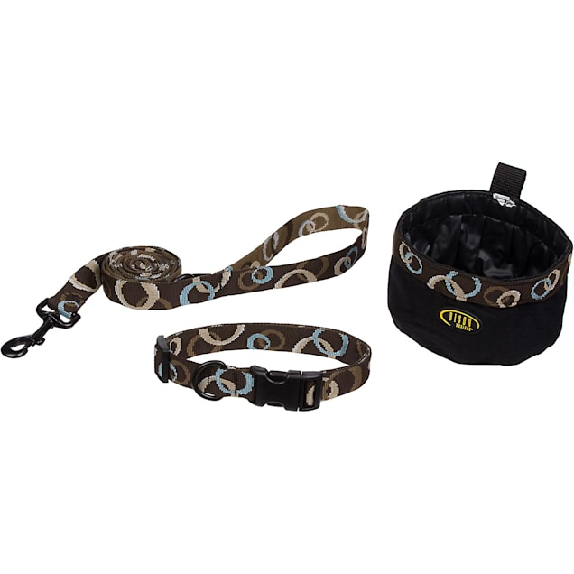 Bison Pet Dog 3-Piece Set in Mocha, Small - Carousel image #1